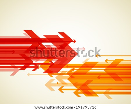 Abstract background with colorful arrows.  - stock vector