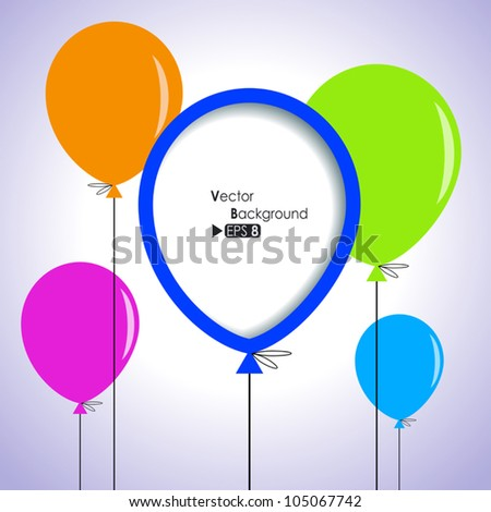 Abstract background with colorful balloons - stock vector