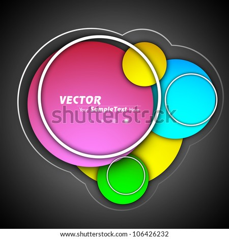 Abstract background with colorful circles on grey background. EPS 10.