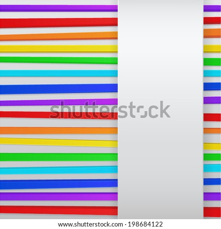 Abstract background with colorful 3d stripes