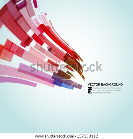 abstract background with colorful elements for your design - stock vector