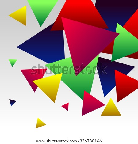 Abstract Background with Colorful Gradient Red, Blue, Green, Pink an Yellow Triangles - stock vector