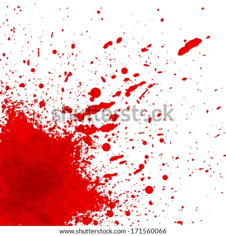 Abstract background with colorful ink splashes - stock vector