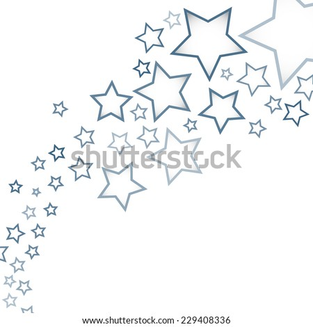 Abstract background with colorful stars - stock vector