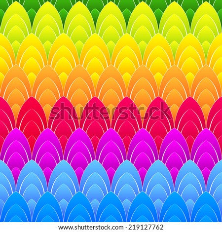abstract background with concentric rainbow colourful ellipses, vector - stock vector