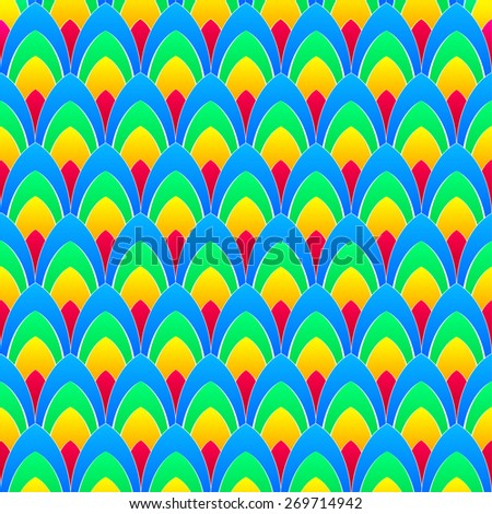 abstract background with concentric rainbow colourful ellipses with white contours, vector - stock vector