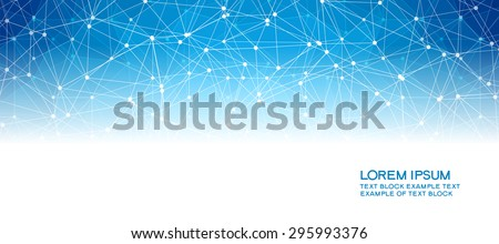 Abstract background with connected line and dot . Concept network. The file is saved in the version 10 EPS. This image contains transparency.  - stock vector