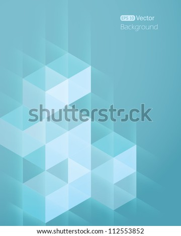 Abstract background with cube 2 - stock vector