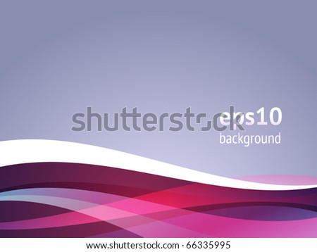 Abstract background with curved waves. Vector illustration. - stock vector