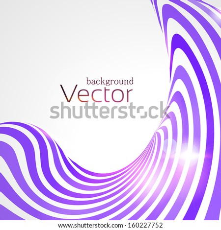 Abstract background with 3d lines - stock vector