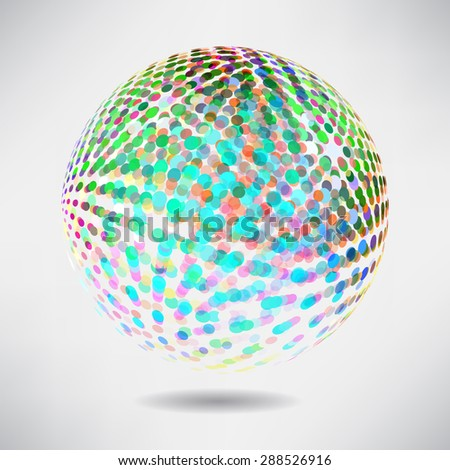 Abstract background with dots and lines on theme digital technology and internet