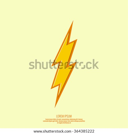 Abstract background with electric lightning. Thunder Lighting. Danger - stock vector