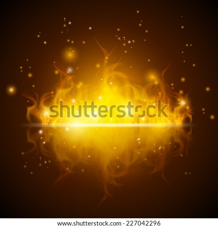 abstract background with fire - stock vector