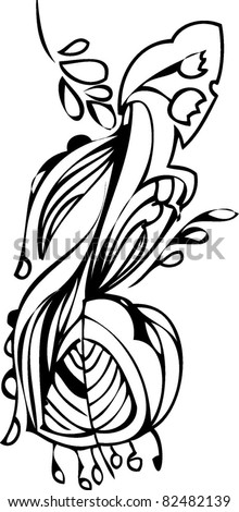 abstract background with floral element - stock vector