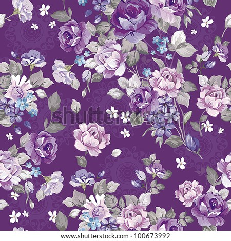 Abstract background with flowers, fashion seamless pattern. Beautiful vector illustration texture. - stock vector