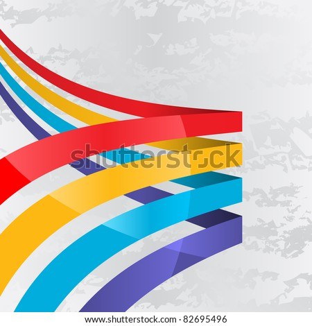 Abstract background with four lines different colors