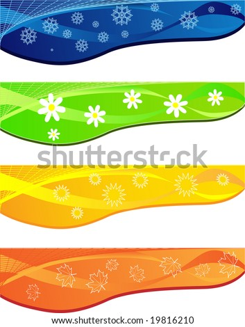 Abstract background with four season - stock vector