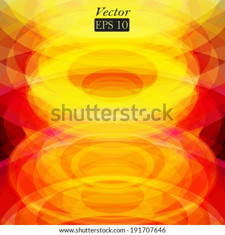 Abstract background with frame and colorful translucent circles. Vector format. - stock vector