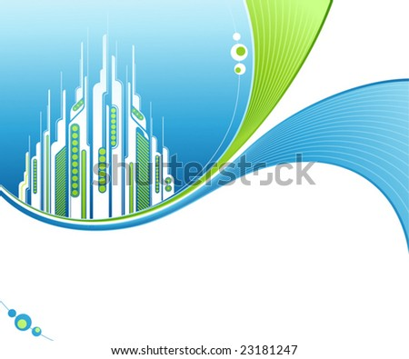 Abstract  background with futuristic design elements. Vector illustration. - stock vector