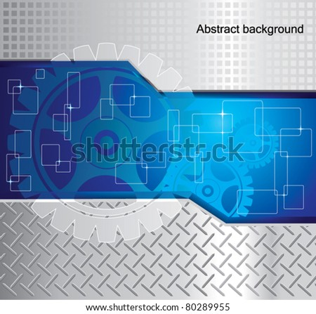 Abstract background with gear.