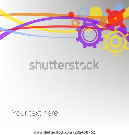 Abstract background with gears - stock vector