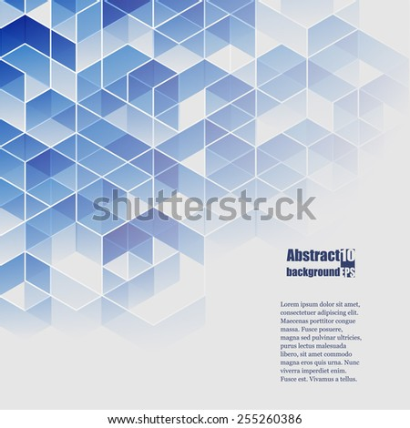 Abstract  background with geometric pattern.Eps10 Vector illustration - stock vector