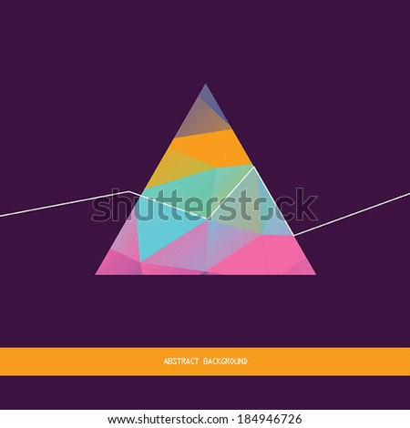 Abstract background with geometric shapes and lines. Stylish triangle pattern,backdrop design template. Vector illustration