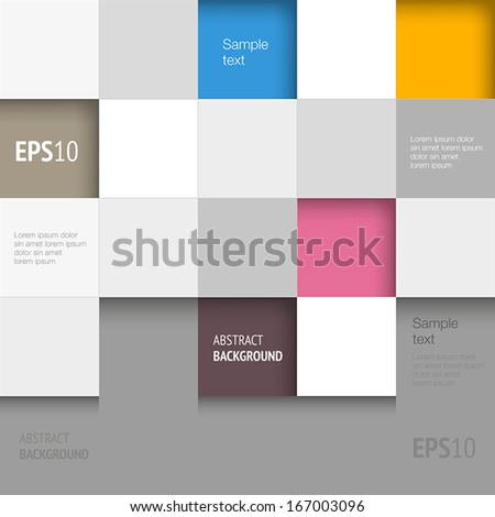 Abstract background with geometric shapes - squares. - stock vector