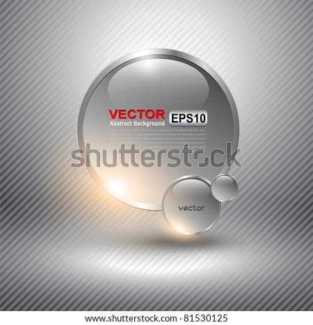 Abstract background with glass balls as vector speech bubble - stock vector