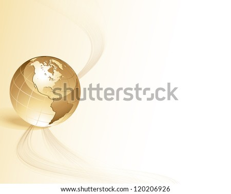 Abstract background with globe - stock vector