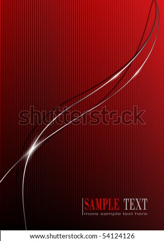 Abstract background, with glossy metallic lines, vector - stock vector