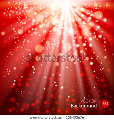 Abstract background with glowing circles and rays of light. Vector eps 10. - stock vector