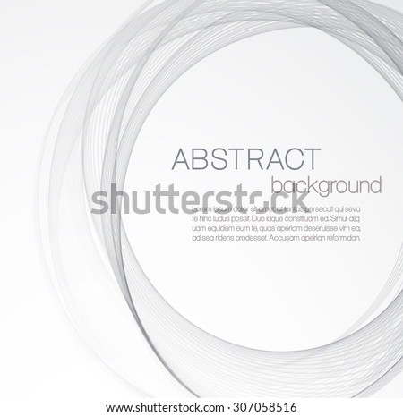 Abstract background with gray circle - stock vector