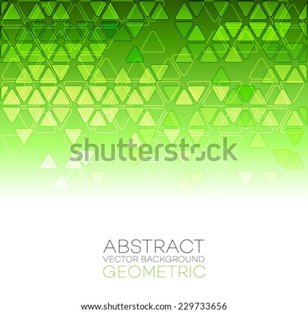 Abstract background with gree  triangle