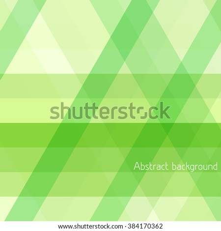 Abstract background with green diagonal and horizontal stripes. Simple vector graphic pattern - stock vector