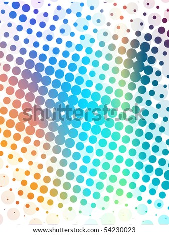 abstract background with halftone wave,  vetor illustration. - stock vector