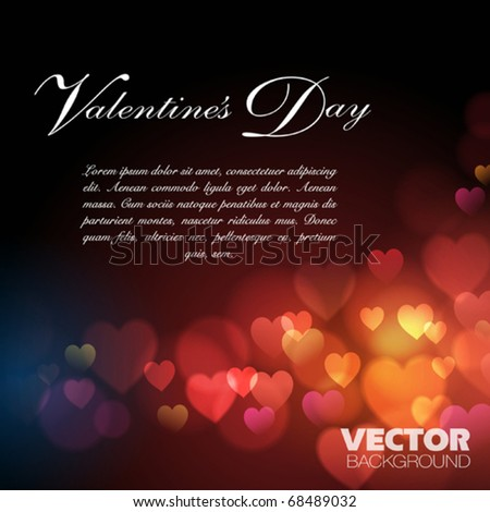 Abstract Background with hearts. Vector design - stock vector
