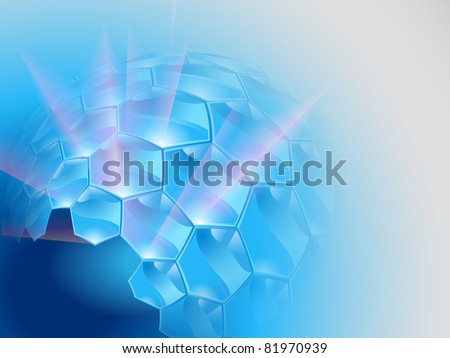 Abstract background with hexagons - stock vector