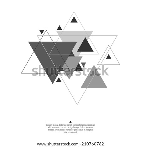 Abstract background with hipster triangles. Triangle pattern background. For cover book, brochure, flyer, poster, magazine, cd cover design - stock vector
