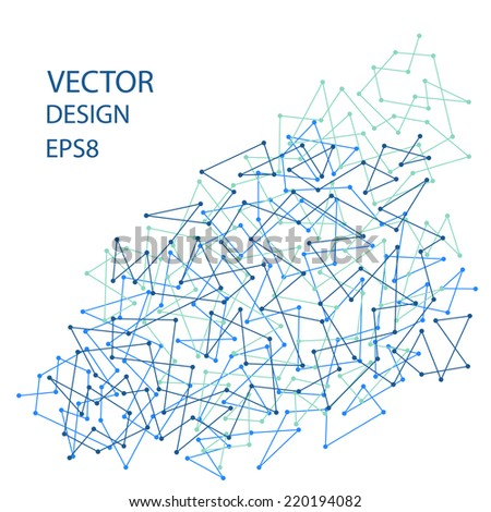 Abstract background with lines. Futuristic Design. Vector illustration EPS8 - stock vector