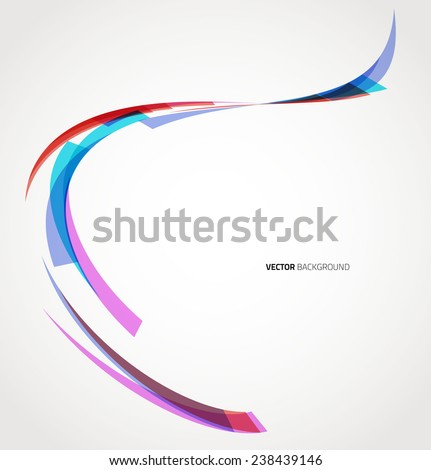 Abstract background with lines. Vector. Template design - stock vector