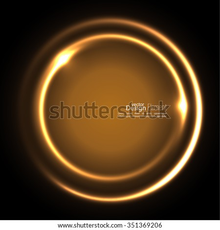 Abstract background with luminous swirling backdrop. Intersection curves. Glowing spiral. The energy flow tunnel. Vector. gold, yellow - stock vector
