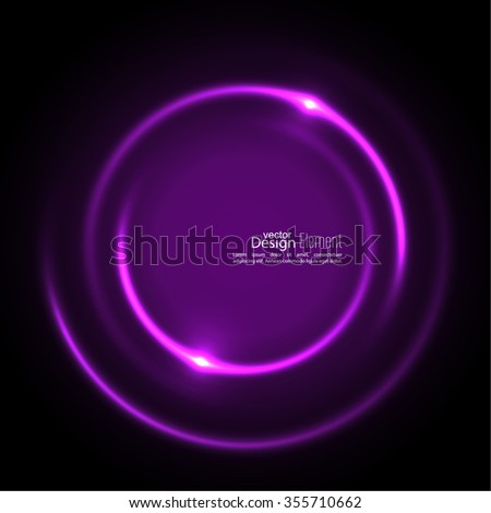 Abstract background with luminous swirling backdrop. Intersection curves. Glowing spiral. The energy flow tunnel. Vector. purple, violet - stock vector