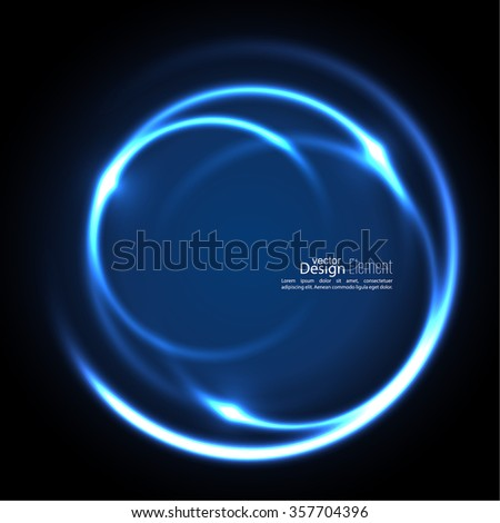 Abstract background with luminous swirling backdrop. Intersection curves. Glowing spiral. The energy flow tunnel. Vector. blue - stock vector