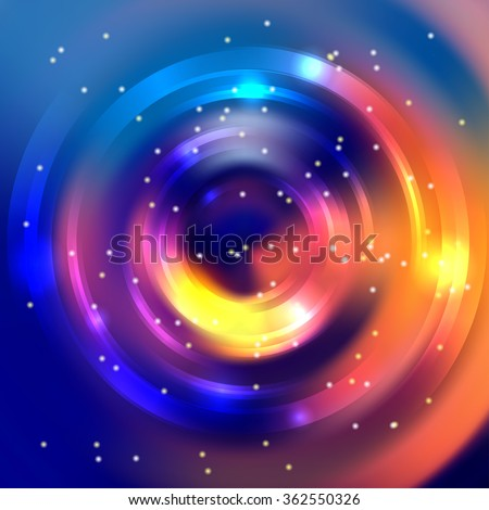 Abstract background with luminous swirling backdrop. Shiny swirl background.  Intersection curves.  - stock vector