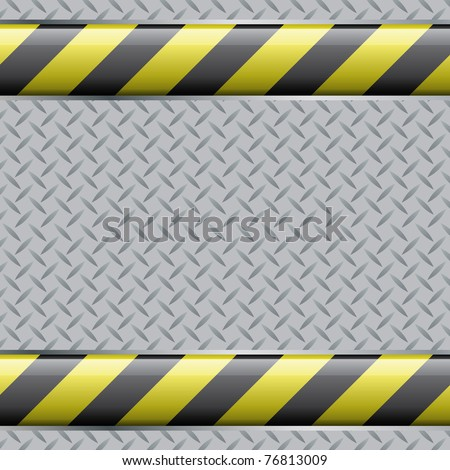 Abstract background with metal plate and screws