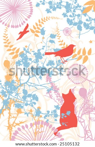 abstract background with nature theme - stock vector