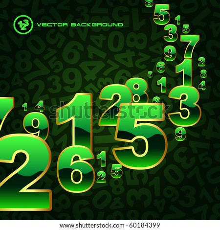 Abstract background with numbers signs. - stock vector