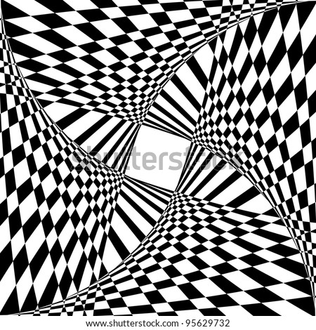 Abstract background with optical illusion effect. Vector art. - stock vector