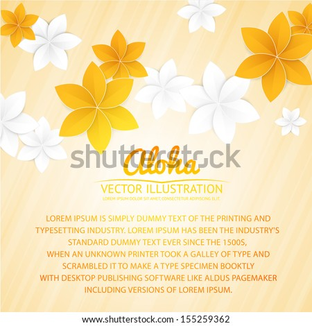Abstract background paper flowers place text stock vector royalty abstract background with paper flowers and place for text vector illustration mightylinksfo